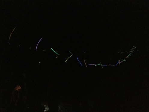 Crank decorated our camp with glow sticks